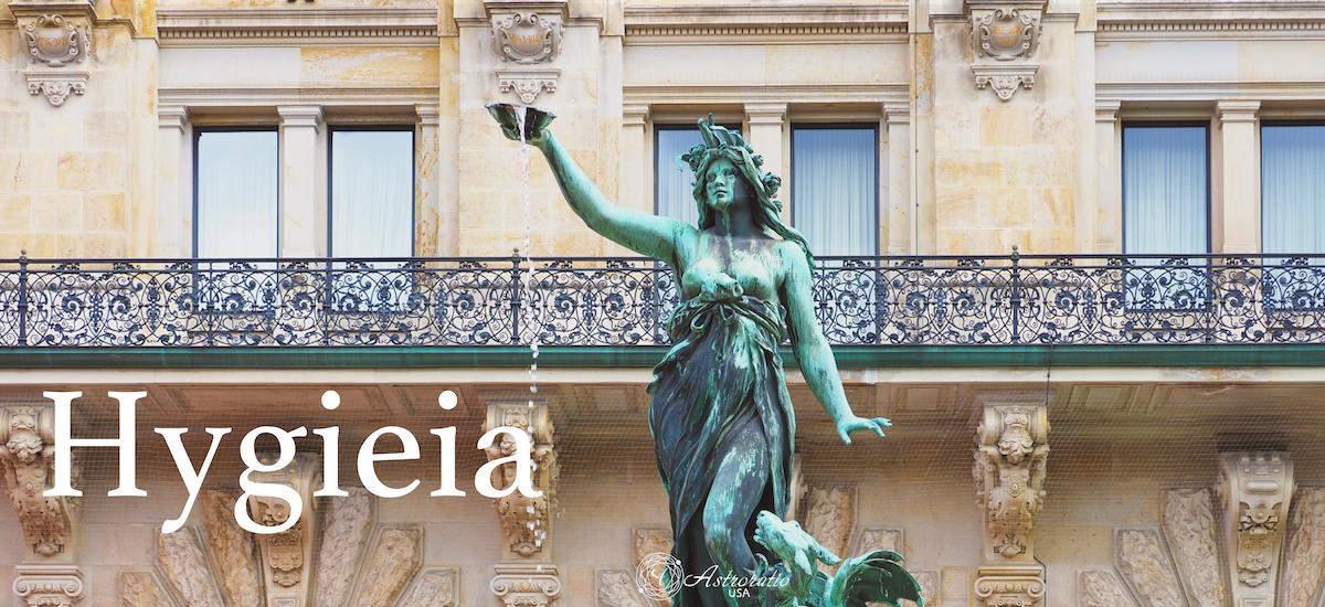 女神Hygieia。ウェルネス、予防医学、健康管理、習慣化に関わる医学の神アスクレピオスの娘の一人。